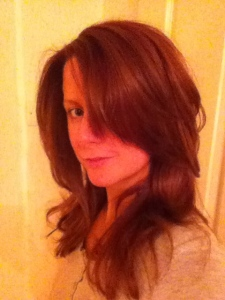 Brunette coiffure - wee bit of a change!